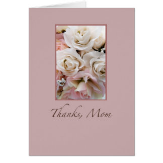 Wedding, Thanks Mom, Roses Greeting Card