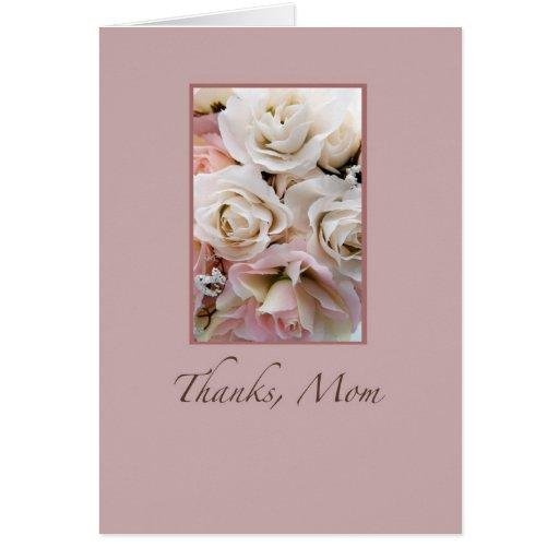Wedding, Thanks Mom, Roses Card
