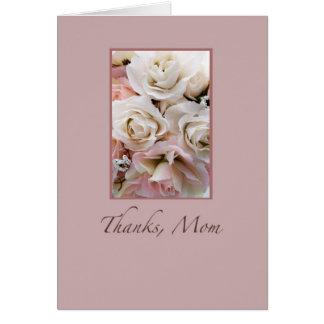 Wedding, Thanks Mom, Roses Greeting Card