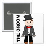 Wedding,the groom,bachelor party,stag party 15 cm square badge