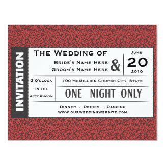 Wedding Ticket! 4.25x5.5 Paper Invitation Card