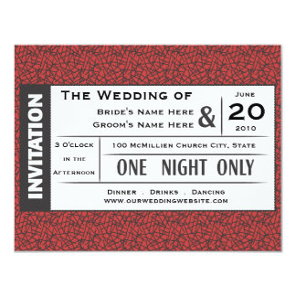 Wedding Ticket! Card