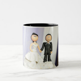 Wedding Topper Bride and Groom Coffee Mug