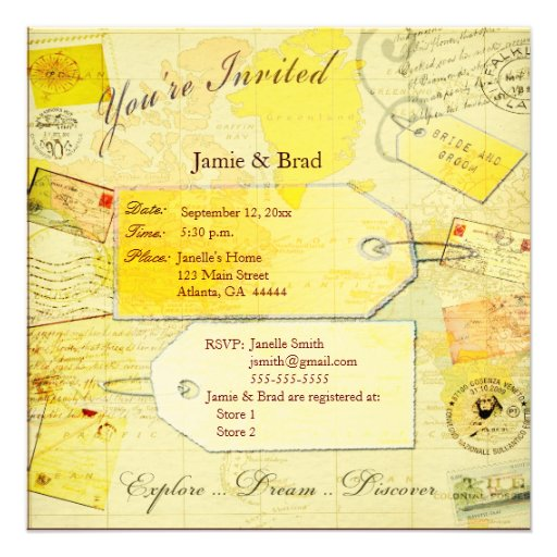 Wedding Travel Theme invitation