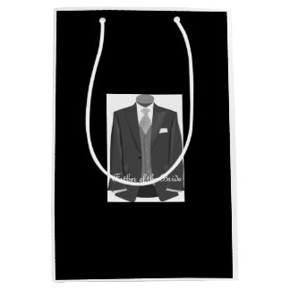 Wedding Tuxedo Father of the Bride Black Gift Bag