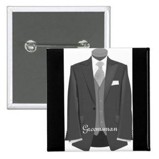 Wedding Tuxedo Groomsman Pin Button Badge Gift
