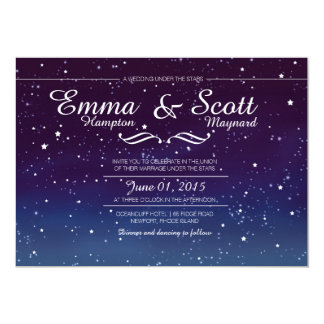 Wedding under the stars invitations