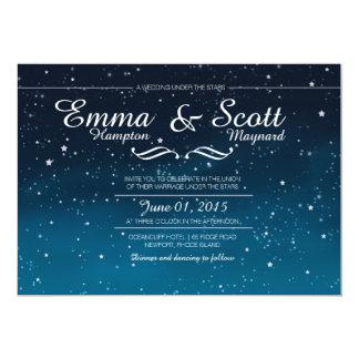 Wedding under the stars invitations