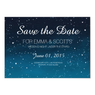 Wedding under the stars Save the Date 13 Cm X 18 Cm Invitation Card
