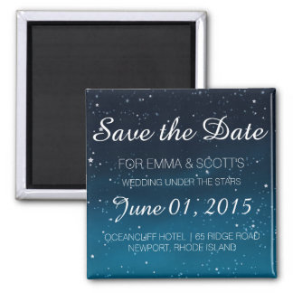 Wedding under the stars Save the Date BLUE Magnet