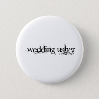 Wedding Usher 6 Cm Round Badge