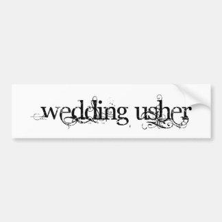 Wedding Usher Bumper Stickers