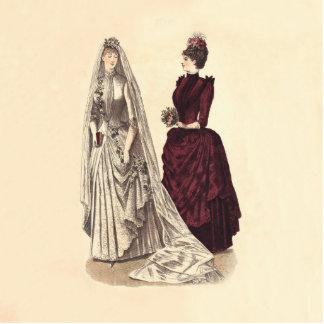 Wedding Vintage bridal party brides and bridesmaid Photo Sculpture Magnet