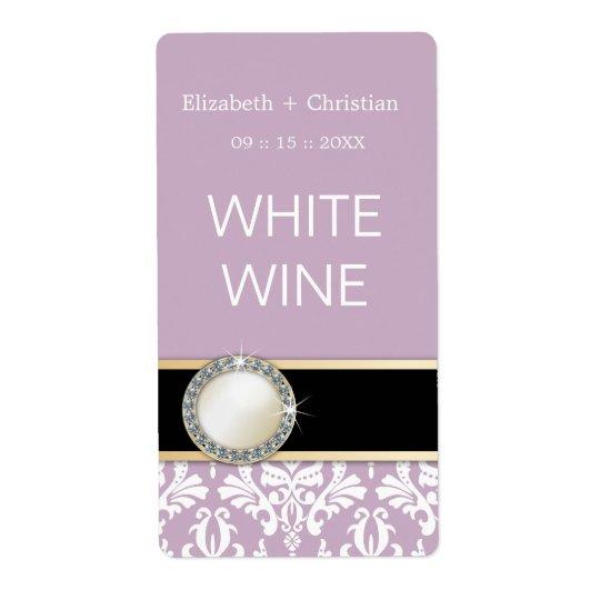 Wedding Vintage Damask Wine Labels