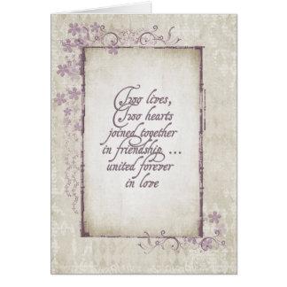 Wedding Vintage Romantic Frame Card