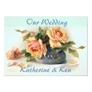 Wedding Vintage Roses Fine Art Invitation