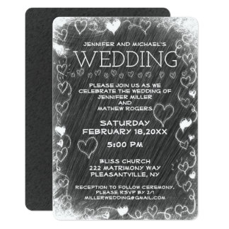 Wedding Vintage Rustic Chalkboard Card