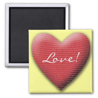 Wedding Vow Heart, Love! Square Magnet