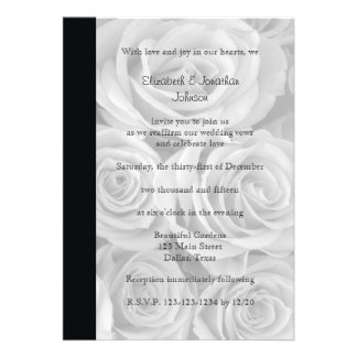 Wedding Vow Renewal Invitation --  Roses Card