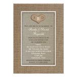 Wedding Vow Renewal Invitation  - Rustic Burlap Card