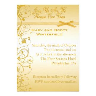 Wedding Vow Renewal Invitations