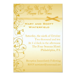 Wedding Vow Renewal Invitations