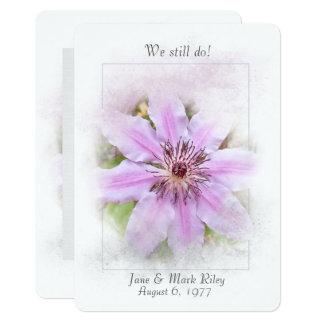 Wedding Vow Renewal-pink clematis Card