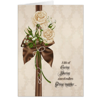 Wedding Vow Renewal Roses Card