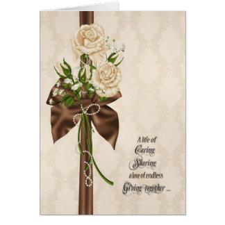 Wedding Vow Renewal Roses Greeting Card