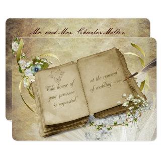 Wedding Vow Renewal vintage book Card