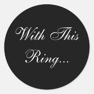 Wedding Vows Envelope Seal Round Sticker