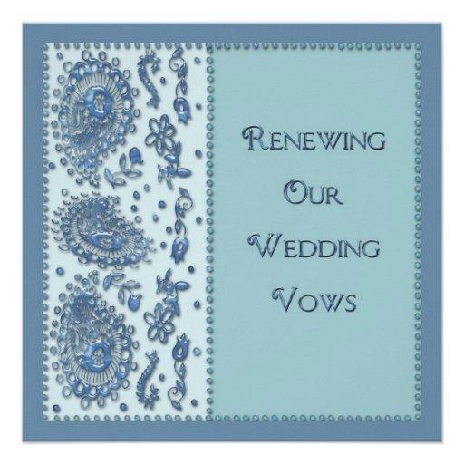 Wedding Vows Renewal Beaded Invitations