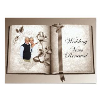 Wedding Vows Renewal Custom Photo Invitation