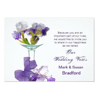 "Wedding Vows Renewal  Invitations- Purple Iris 5"" X 7"" Invitation Card"