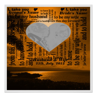 Wedding Vows Word Art Design Poster