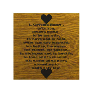 Wedding Vows Words Wood Wall Art