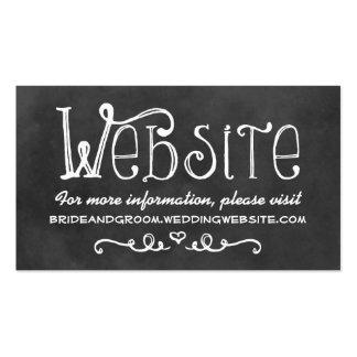 Wedding Website Card | Black Chalkboard Charm Pack Of Standard Business Cards