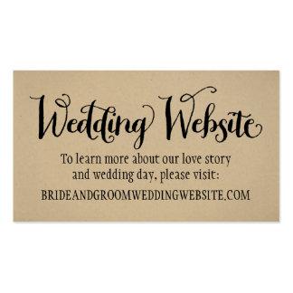 Wedding Website Card | Kraft Brown Pack Of Standard Business Cards