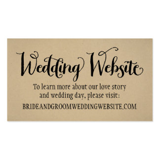 Wedding Website Card | Kraft Brown Pack Of Standard Business Cards