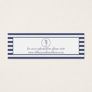 Wedding Website Card | Nautical Blue Seahorse