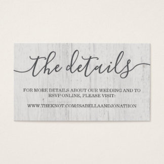 Wedding Website Enclosure Card | Rustic Romantic
