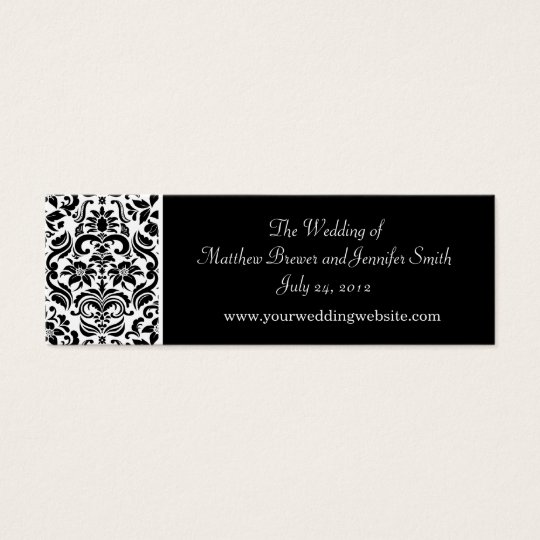 Wedding Website Information Cards