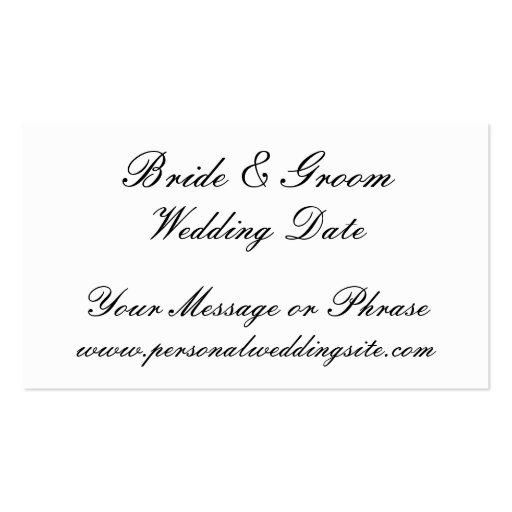 Wedding Website Insert Card For Invitations Business Template