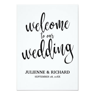 Wedding Welcome Gold Affordable Wedding Sign Card