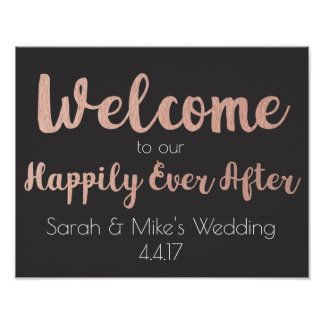 Wedding Welcome Sign- Happily Ever After Poster