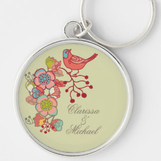 Wedding Whimsy Birds Keychain