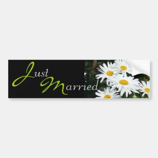Wedding White Daisies Bumper Sticker