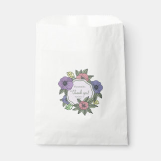 Wedding White Favor Bag-Flowers Viola Favour Bags