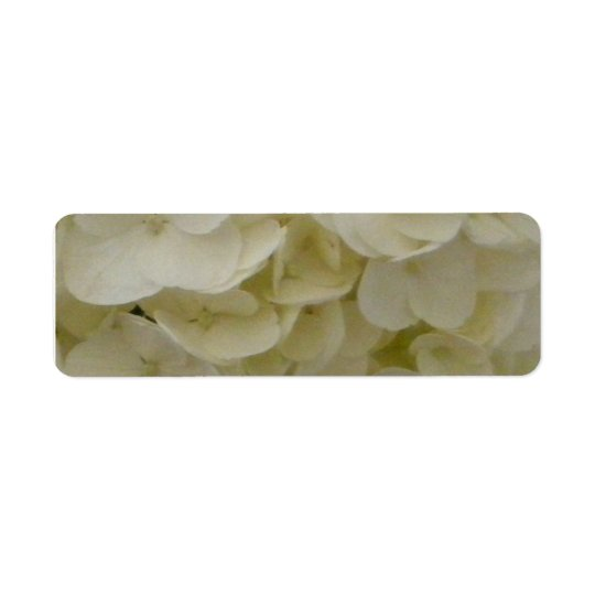 Wedding White Heart Hydrangea Return Address Label