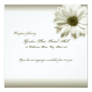 Wedding White Vintage Chrysanthemum Card
